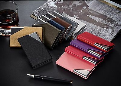 Portable Stainless Steel Velvet Purse Business Name ID Credit Card Holder