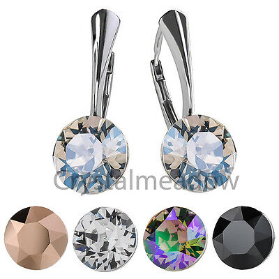 925 Sterling Silver Leverback Earrings XIRIUS Genuine Crystals from Swarovski®