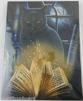 "Lisa Parker ""Bewitched"" Canvas Wall Art Plaque 25 x 19 cm Fantasy Wicca"