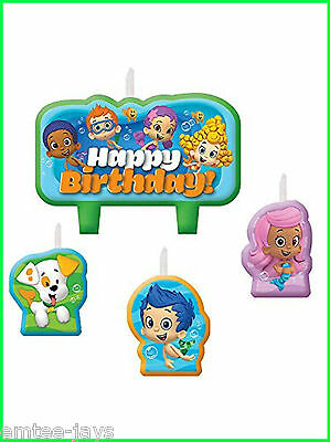 Bubble Guppies Candles - Birthday Cake - Moulded - 4 candles - Australian Seller