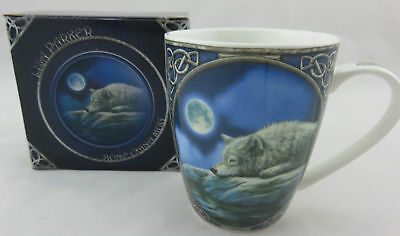 "Lisa Parker ""Quiet Reflection"" Wolf Bone China Mug, Fantasy"