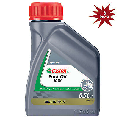 Castrol 10w Suspension Mineral Motorcycle Fork Oil - 3x500ml = 1.5 Litre