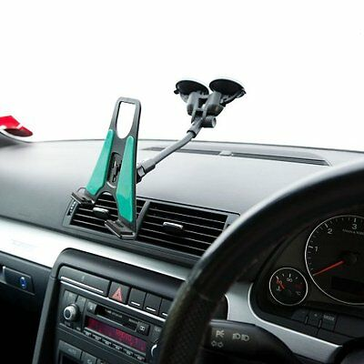 Car Van Dual Suction Windscreen Mount + PU Tablet Holder for Linx linx 10