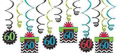 60th Celebration Value Pack Swirl Decorations~60th Birthday Party Favor Supplies