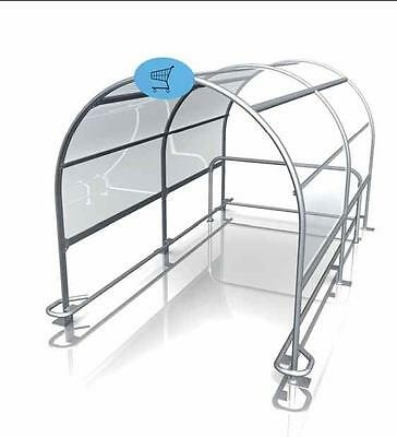 Trolley Bay Shopping Trolley Shelter Retail Shopping Baskets Park Shop Equipment