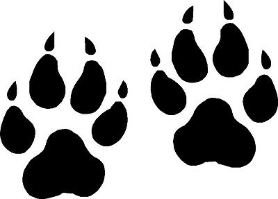 Wolf Paw Prints Vinyl Decals, Stickers Graphics