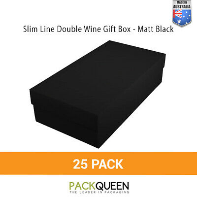 25 x Double Wine Gift Boxes (335 x 178 x 90mm)  - Wedding & Favor Gift Boxes