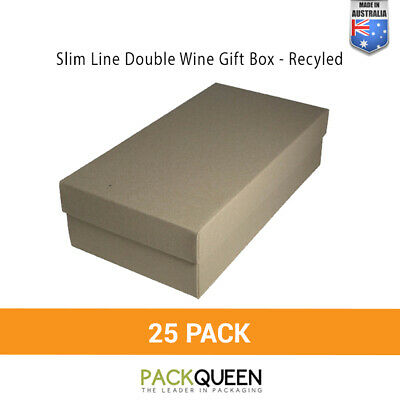 25 x Double Wine Gift Boxes (335 x 178 x 90mm) - Wedding Favour Gift Boxes