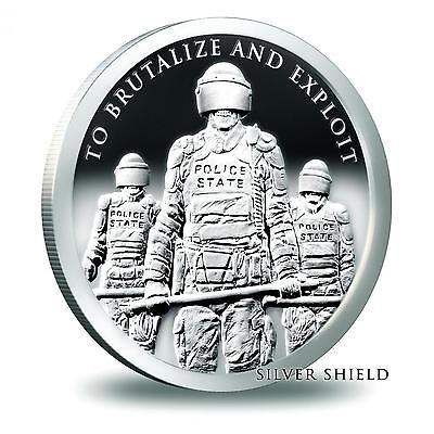 2015 Silver Shield Slave Police State 1 oz .999 Silver Proof-Like USA Round Coin