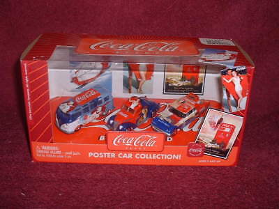 """2003 Issue Coca-Cola """"POSTER CAR COLLECTION"""" Three (3) Vehicle SET"""