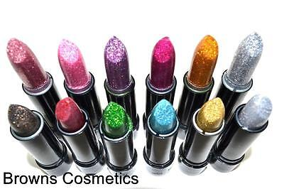 Saffron London Glitter Coloured Lipstick Various Colours Set Make Up Lipsticks