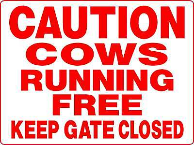 Cows, Aluminum  Sign  Keep Gate Closed  Equine D3114