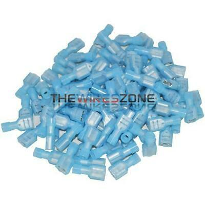 Blue 16-14 Gauge Female Insulated Quick Disconnect Terminal Connector (100/pk)
