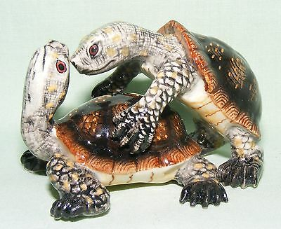 Klima Miniature Porcelain Animal Figures Pair of Box Turtles L760
