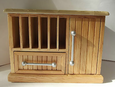 Pine Kitchen Unit with Vegetable Drawers - 1:12th Scale - Streets Ahead DF431