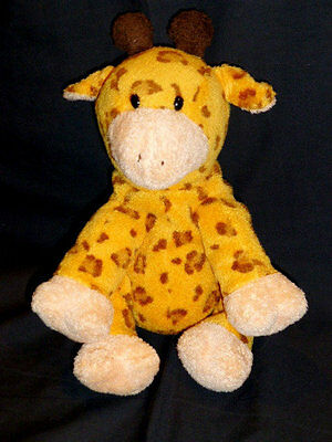"Ty Pluffies Giraffe Towers Orange Brown 9"" Bean Bag Toy 2004 Retired"