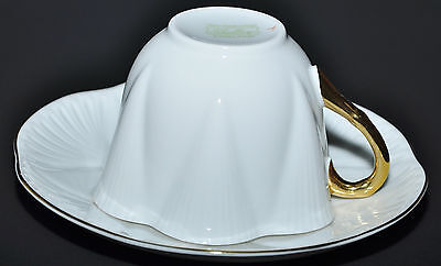 SHELLEY DAINTY WHITE ENGLISH FINE BONE CHINA TEACUP & SAUCER -THREE AVAILABLE