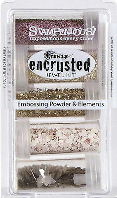 Frantage Encrusted Jewel Kit Collection Pink Embossing & Element Stampendous NEW