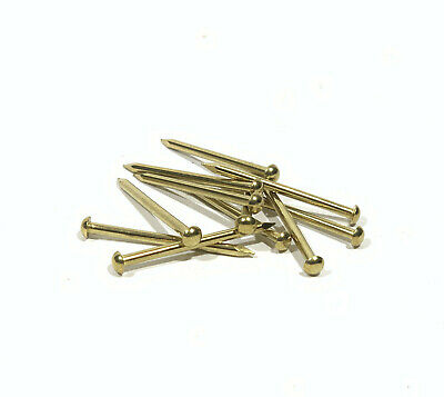 Escutcheon Pins - Solid Brass - 100 pcs - Choice of 4 Gauges