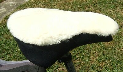 IVORYSheepskin Cruiser type bicycle seat cover with foam insert