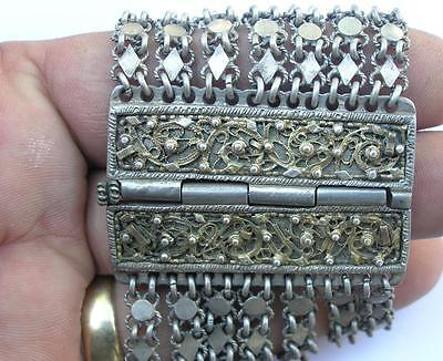 ANTIQUE 19th CENTURY OTTOMAN EMPIRE /TURKEY  SILVER FILIGREE BRACELET