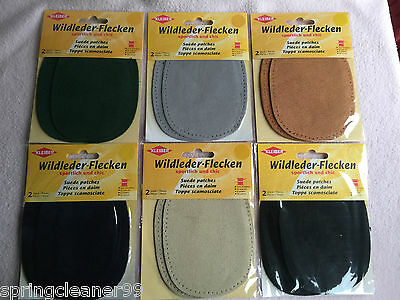Kleiber ~ Suede Elbow Patches ~ Sew On Patches ~ Knee, Elbow, New & Sealed
