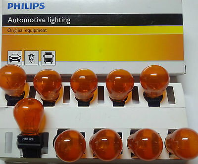 10x Glühlampe USA 12V 27/7W 2Faden Orange / Gelb Philips 3157NA  Dodge GMC Ford