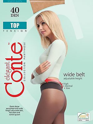 LOT of 3 Packs CONTE Womens Tights Quality Classic Low Rise TOP 40 Den S M L