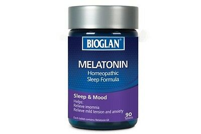 Bioglan Homeopathic Melatonin (90 Tablets) ::Relieve Insomnia and Nervousness::