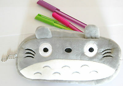 Cute Totoro Pencil Case Plush Pen Small Bag Miyazaki Kid's Starionery