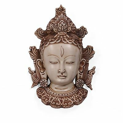 White Tara Buddha Wall Hanging Mask Art Decor Home Sculpture Gift ideas lucky