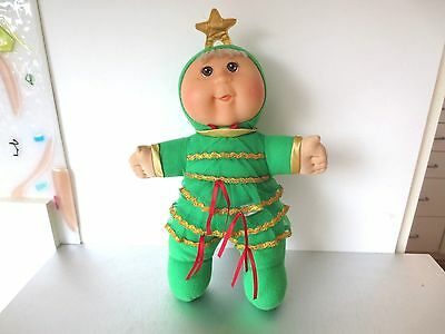 """Cabbage Patch Modern Baby Christmas Tree Clothes Brown Eyes 12"""" Bean Bottom"""