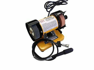 3'' Mini Bench Grinder Polisher With Flexible Shaft 10,000Rpm