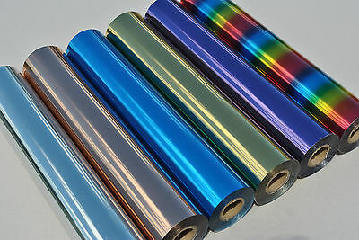 "Textile Heat Foil T-Shirt Transfer Metallic 12"" x 200 Foot Roll Made in the USA!"