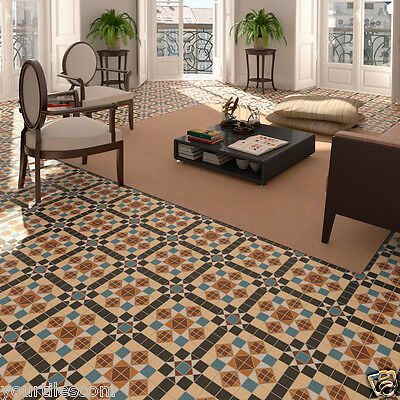 TILE DEALS / SAMPLES: Ealing Victorian Moroccan Mosaic Pattern Wall Floor Tiles