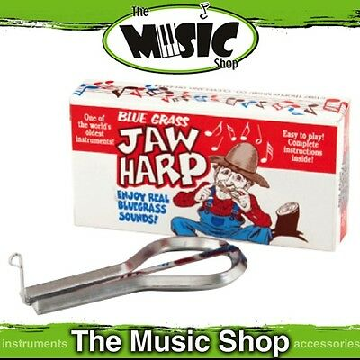 New Bluegrass Hand Tuned Jaw Harp - Nickel Plated Steel - ED350
