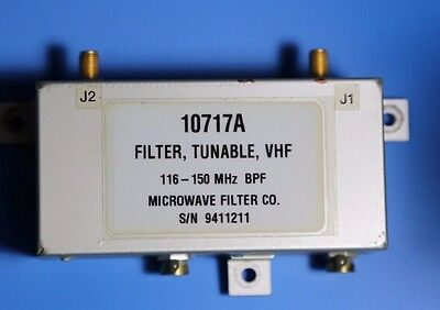 VHF tunable bandpass filter 116-150 MHz, Cavity BP ATC monitoring, 2m DX, LPFM