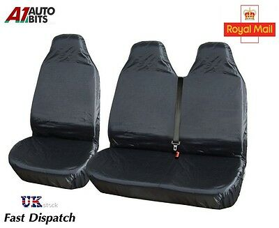 2+1 Heavy Duty Waterproof Front Seat Covers Protectors For Ford Transit Van
