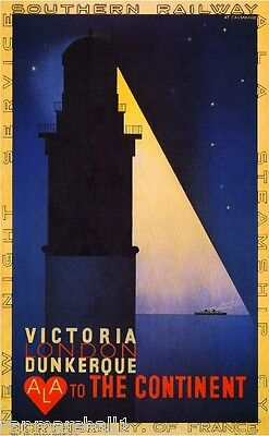 Victoria London Great Britain Vintage Travel Advertisement Poster Picture Print