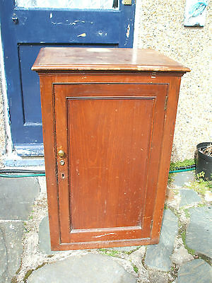 "Edwardian Carved Mahogany Cabinet With Shelves 34""H 22""L 18""W • £99.00"