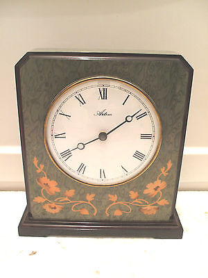 "Artem Quartz Marble Effect Battery Movement Mantle Clock 9""H 8.25""W 3""D"
