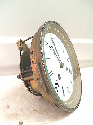 """G & S Striking Mantle Clock Movement With Gilded Enamelled Face Spare/Repair 6""""D • £99.00"""