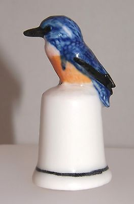 Klima Porcelain Kingfisher on Thimble K687