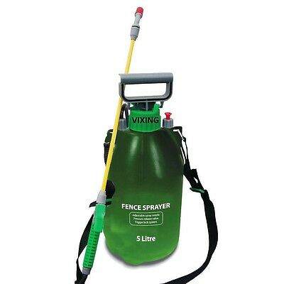 5Ltr Fence Pressure Sprayer Bottle Garden Water Knapsack Chemical Car Spray New