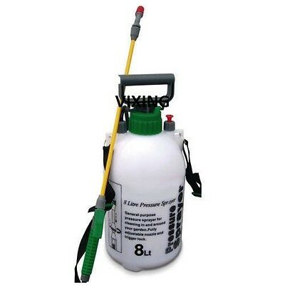 8Ltr Pressure Sprayer Bottle Garden Water Knapsack Chemical Fence Car Spray New