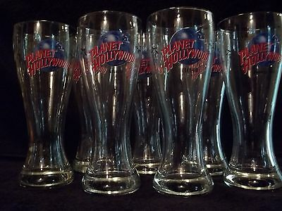 PLANET HOLLYWOOD PILSNER BEER GLASSES - 16 OZ. - (8) Locations Available