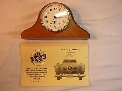 Very Rare Studebaker Assembly Plant Wood Timber Mantel Clock ~ Limited No. 140