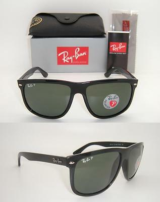New Authentic Ray-Ban RB 4147 601/58 60mm Black Frame / Green Polarized Lens