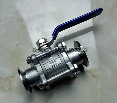 """Sanitary stainless steel 3 Piece ball valve 1.0"""" OD:25MM Triclamp SS304"""