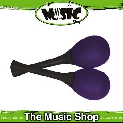 New Pair of Mano Percussion Egg Shaped Maracas with Handle - 25g Purple - EM121